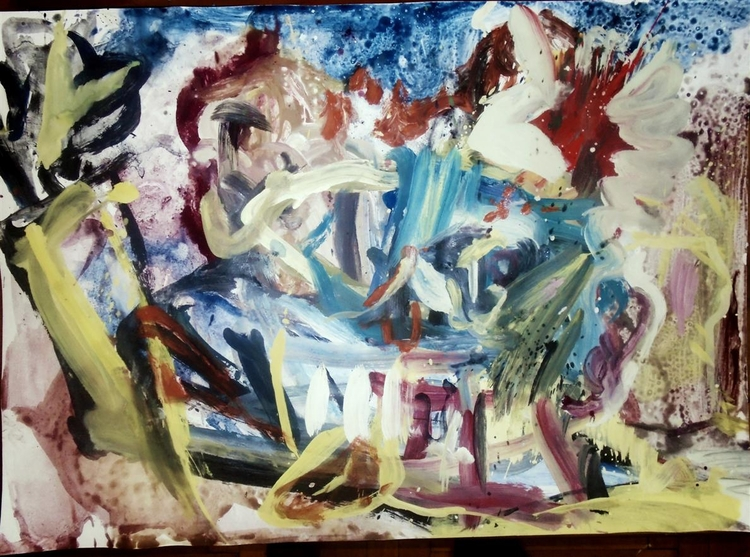 Drunker - painting, art, expressionism - giannisrallis | ello