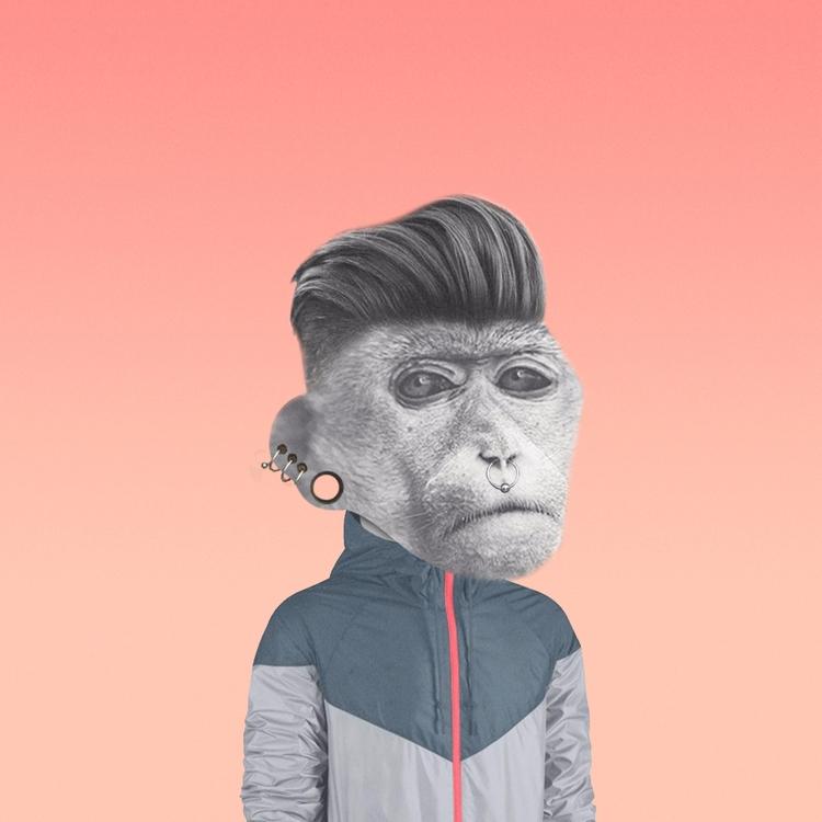 Rocho Sapiens - design, collage - valenvq | ello