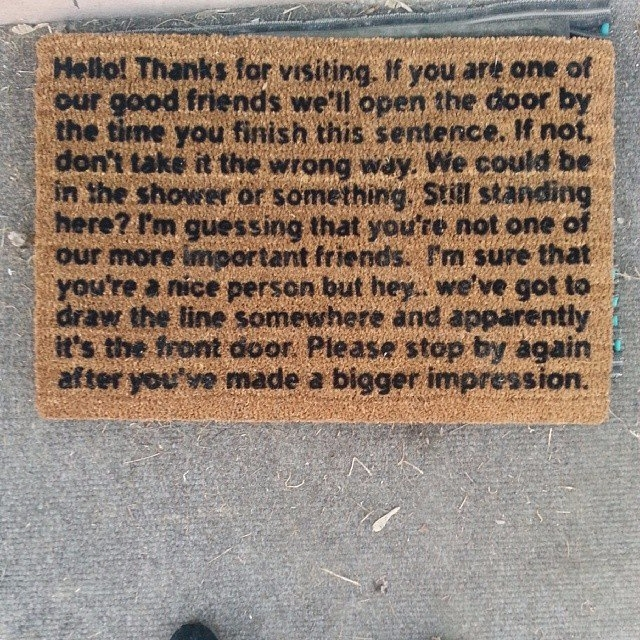 Bigger Impression Doormat - Sol - ellofabfinds | ello