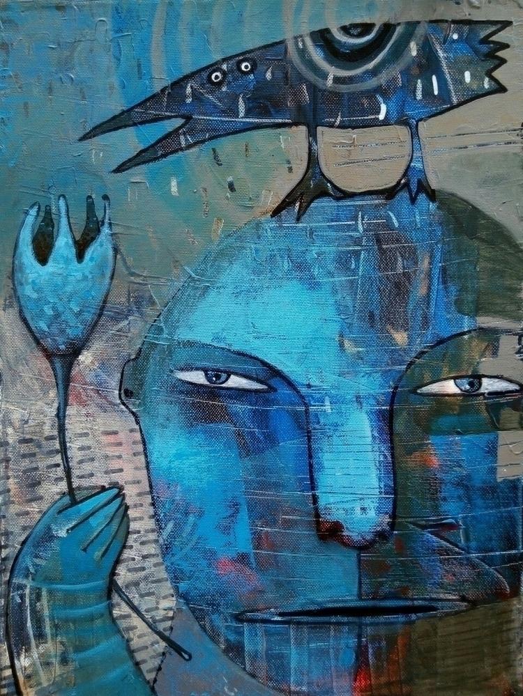 "dovana"" (gift)acrylic canvas 3 - jolitacc | ello"