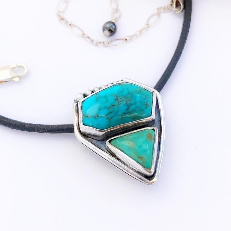Unique dual stone turquoise nec - mosaicsmith | ello