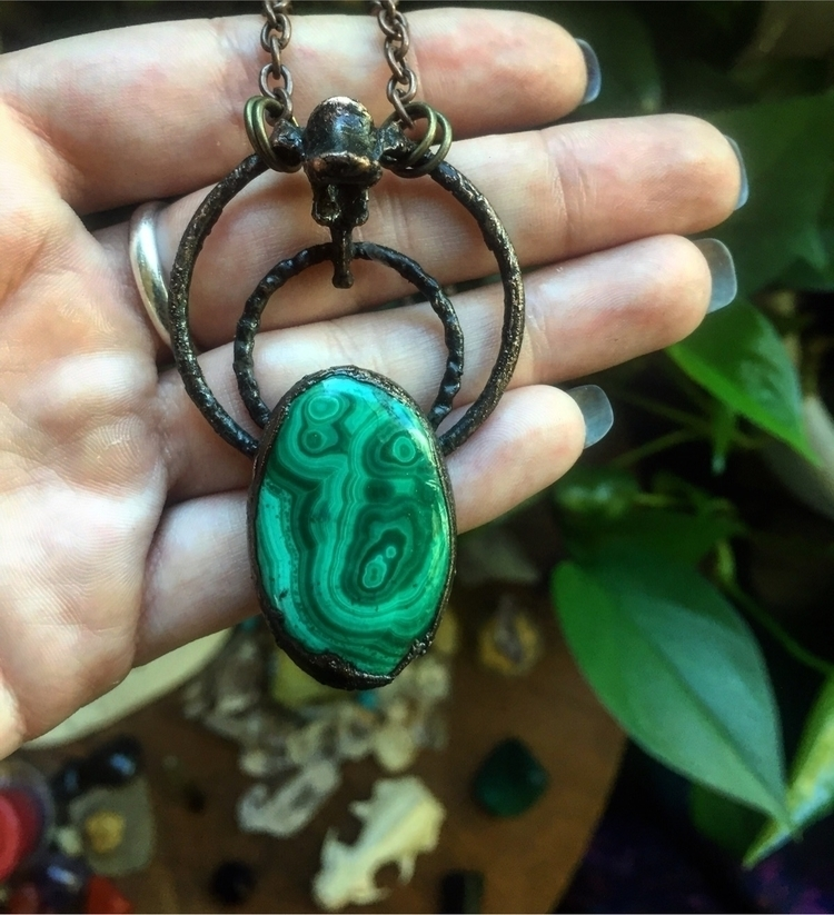 Malachite Fox vertebrae - moonwitchery | ello