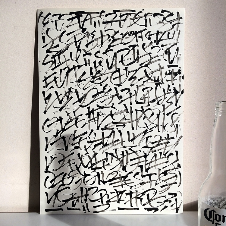 abstract - calligraphy, art, calligraddictiphy - kirillmalykhin | ello