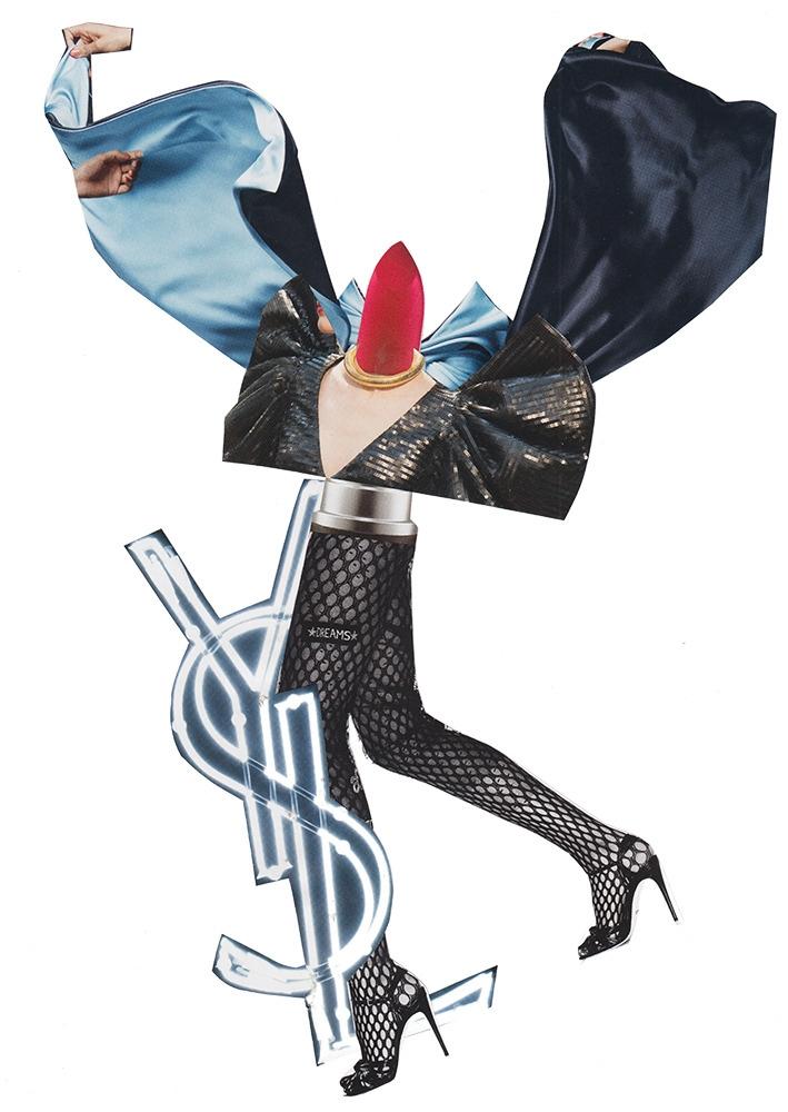 YSL, 2017 - collage, fashion, lucamainini - itslucamainini   ello