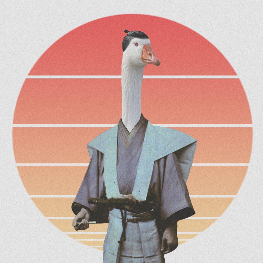 Hatori Ganzo - japanese, collage - valenvq | ello