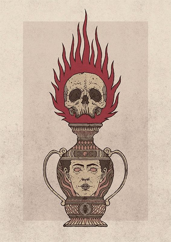 ate, illustration, art, skull - esze_ate   ello