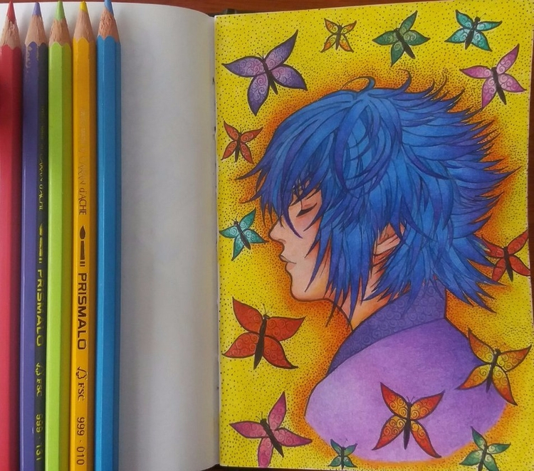 Prince Noctis - Colored Pencils - taynazahlouth | ello