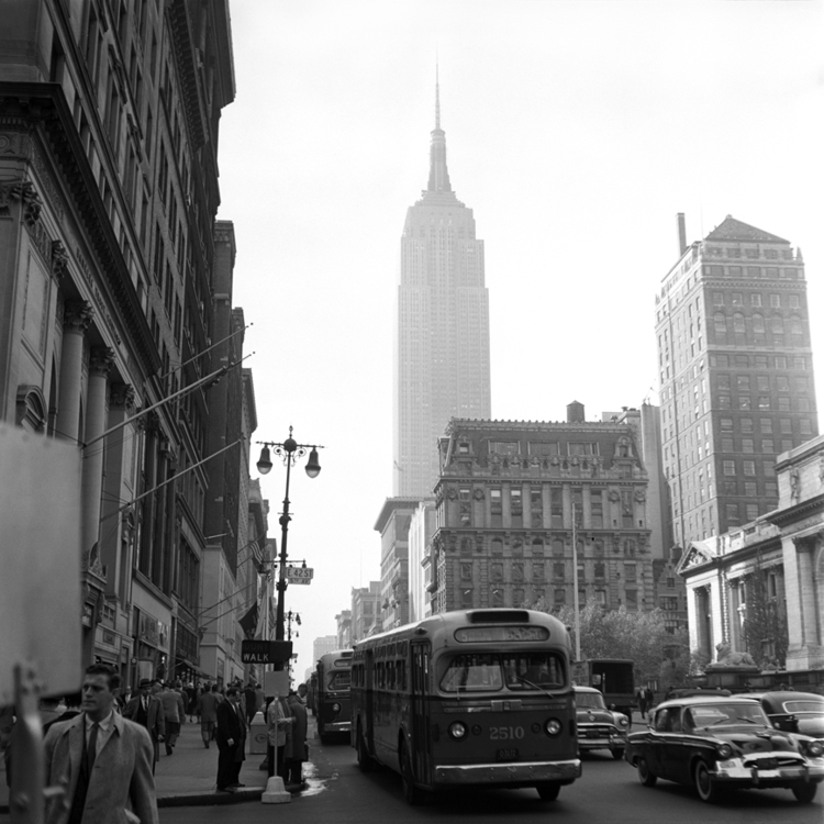 York City 1957 5th Avenue 42nd  - nickdewolfphotoarchive | ello