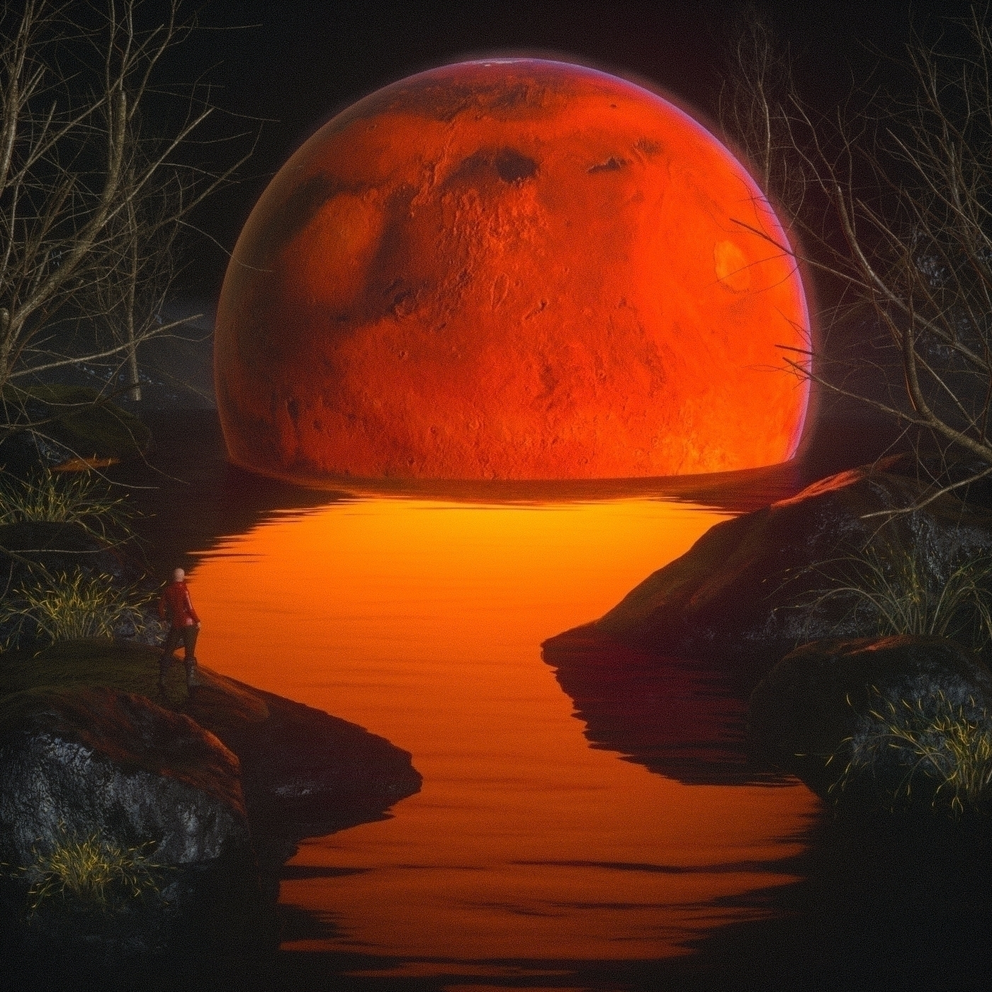 Red Swamp Mars Waiting reached - skeeva   ello