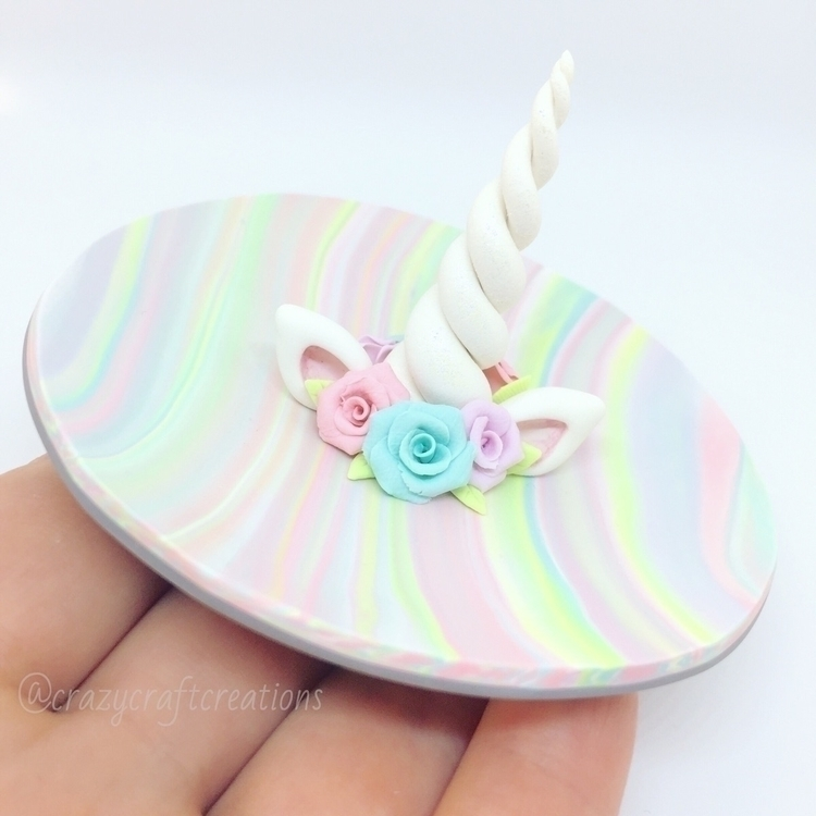 Unicorn ring dish! decide paint - crazycraftcreations | ello