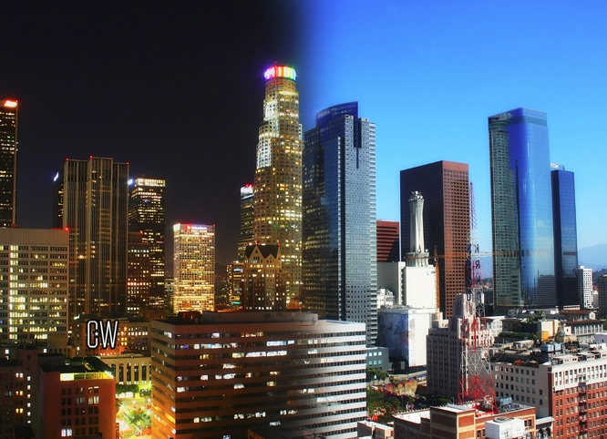 LA skyline night day - la, dtla - chriswelch_72 | ello