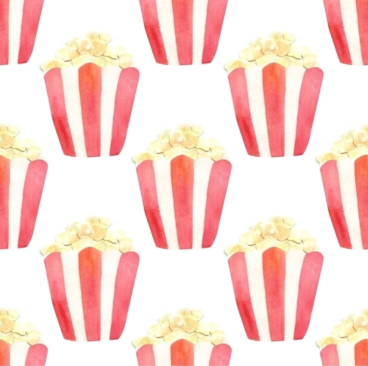 Popcorn days - popcorn, collage - worldofmik | ello