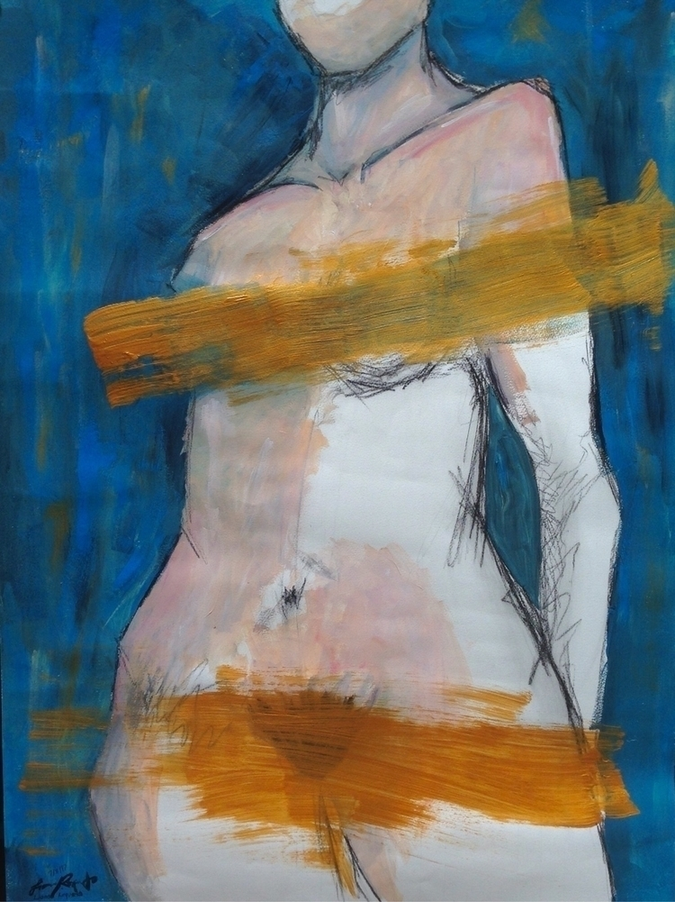 body Charcoal ~ Acrylics - leii | ello
