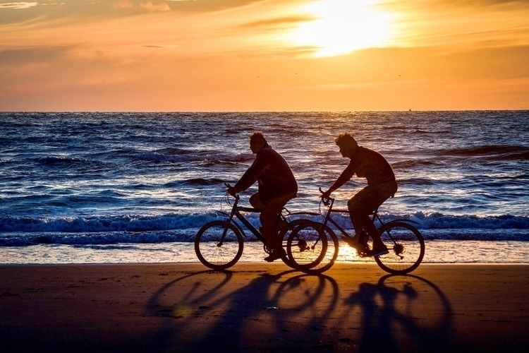 sunset. unknown bikers beach.#s - rwhfink | ello