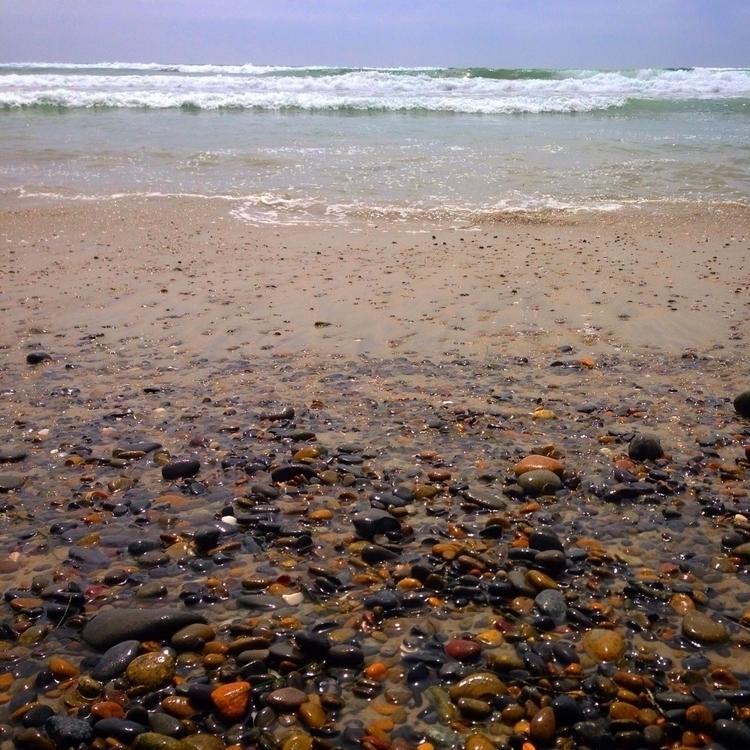 shimmering stone beach life; re - alexgzarate | ello