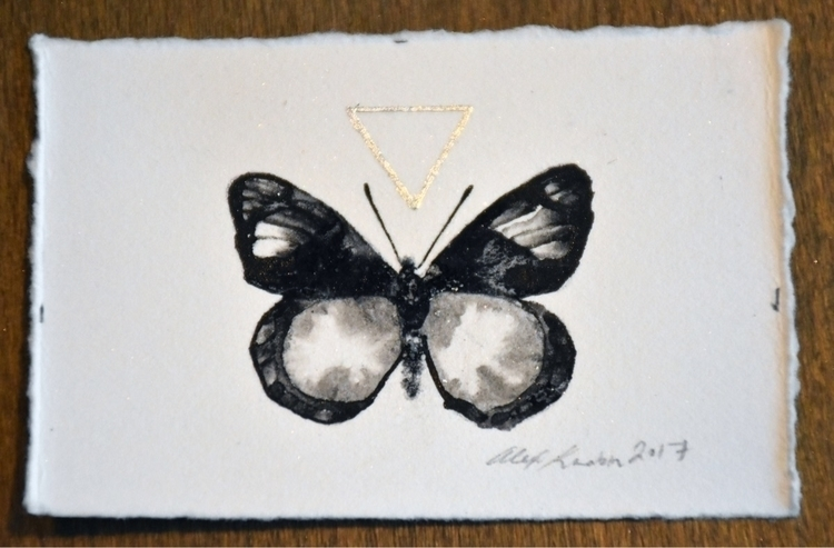 painting, shop. $25 - ink, silverleaf - alexakarabin   ello