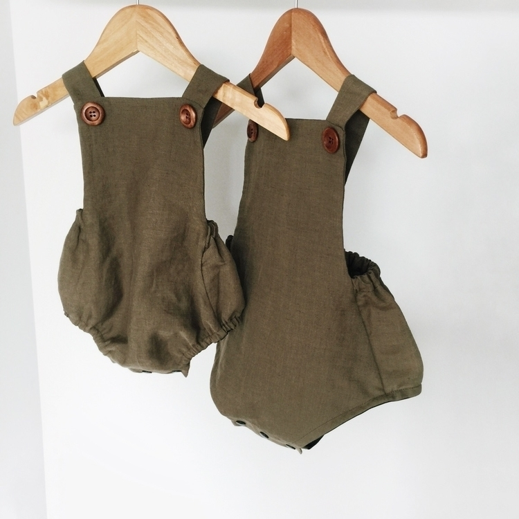 Olive overalls // linen cotton  - adelynscreations | ello