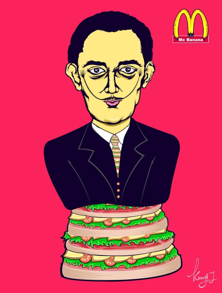 Salvador Dali Hamburger - kzengjiang - kzengjiang | ello