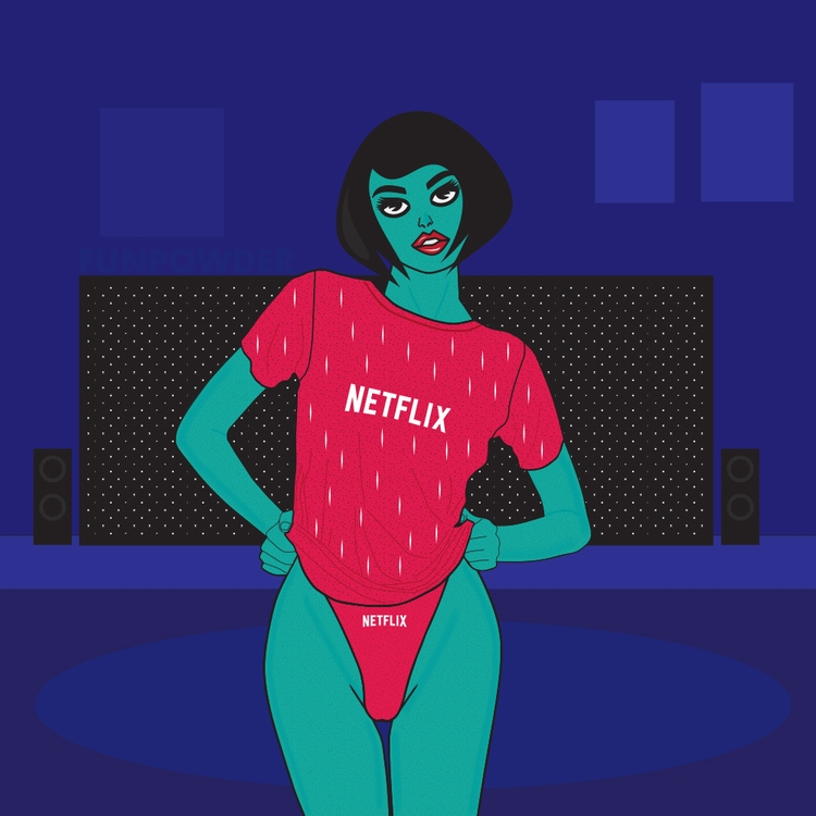Netflix Solo - minimal, art, illustration - funpowder | ello