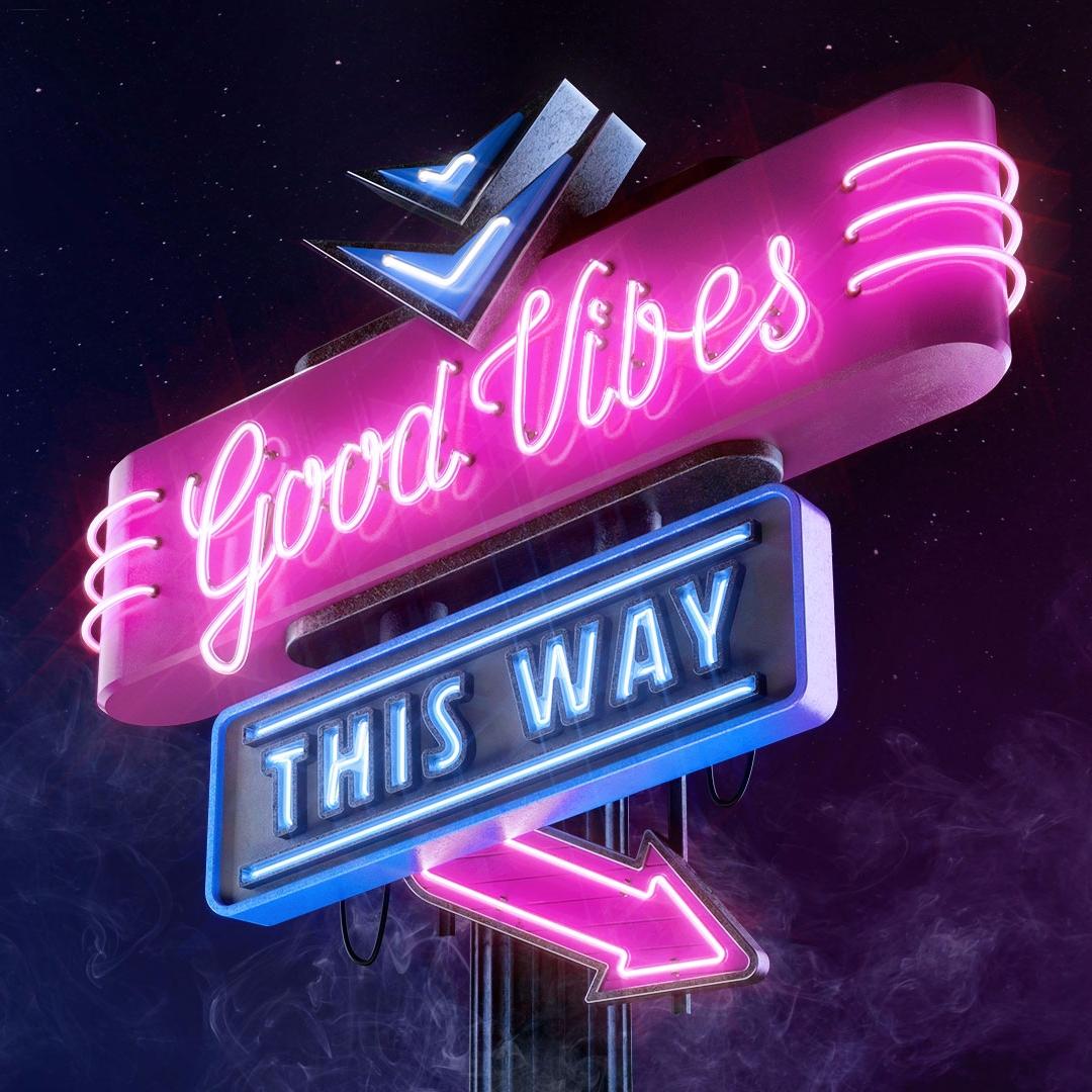 Good Vibes - cgi, 3D, neon, neontype - weareforeal | ello