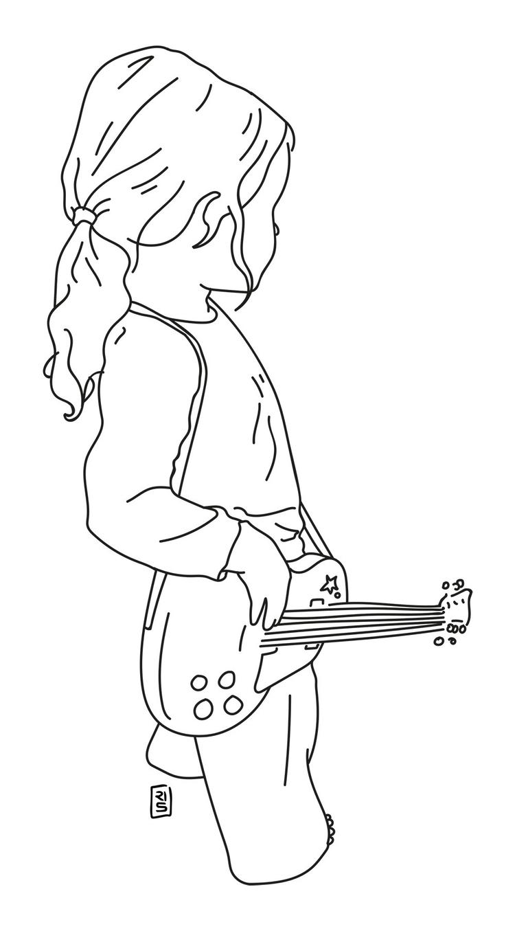 Guitar Hero - illustration, drawing - rivasinge | ello