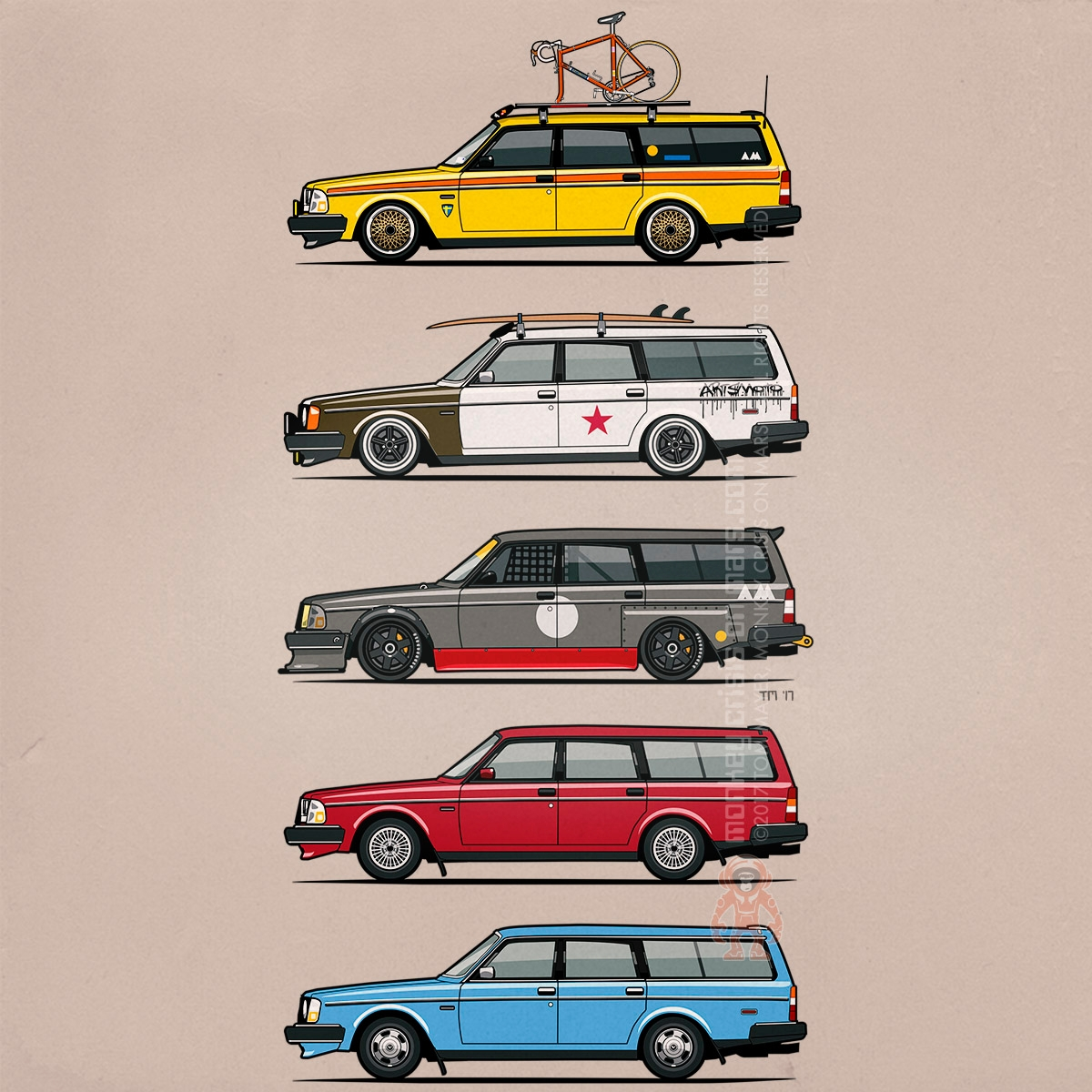 Stack Volvo 240/245 wagons Tom  - monkeycrisisonmars | ello
