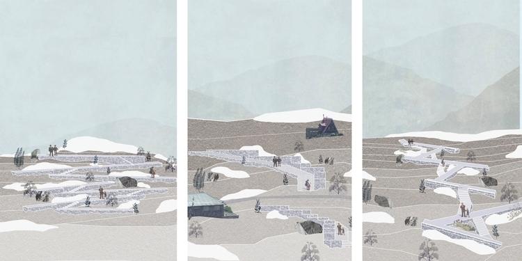 Collage / Eje los Esquiadores T - brionescatalina | ello