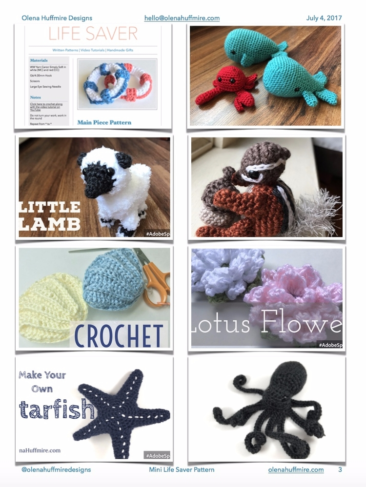 Crochet ducky, whale, life save - olenahuffmire | ello
