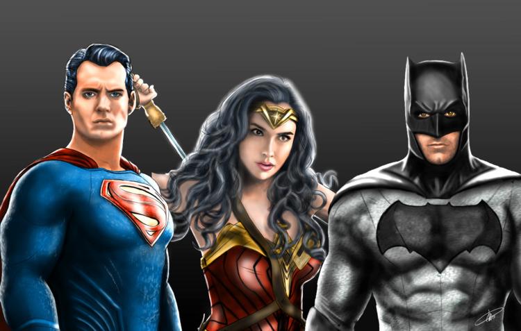 trinity, superman, wonderwoman - dextra | ello