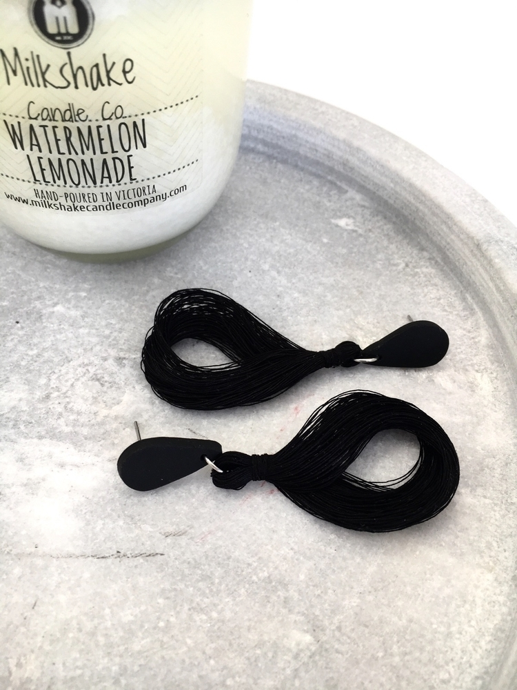 ~Black~ rounded tassels popular - littleolliedesigns | ello