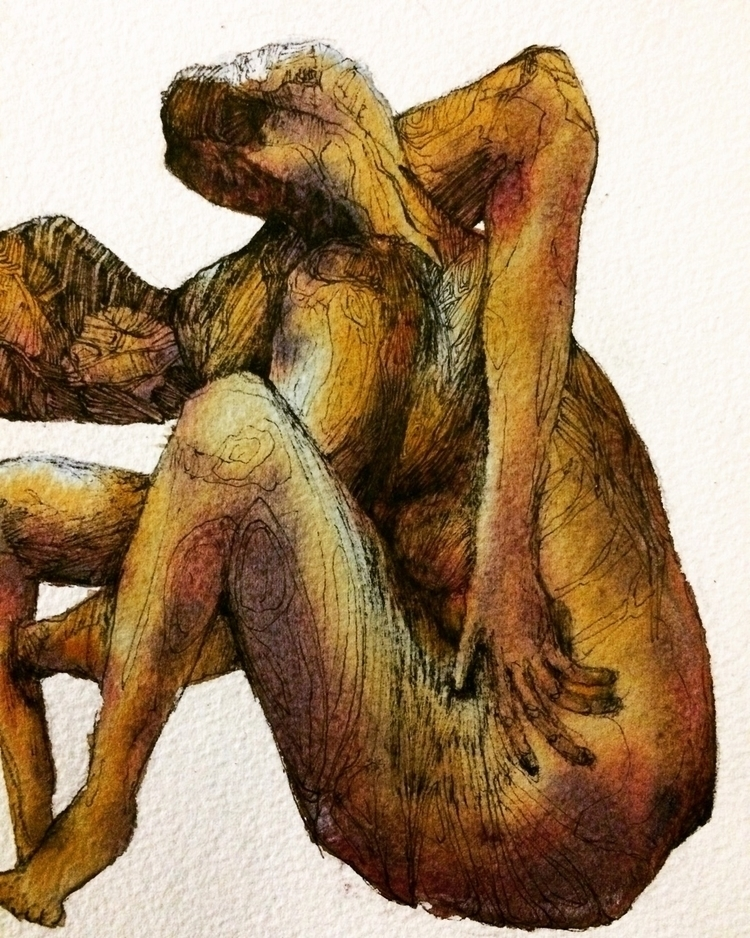 Title: Mildly Inebriated ink - watercolor - jacobbayneartist | ello