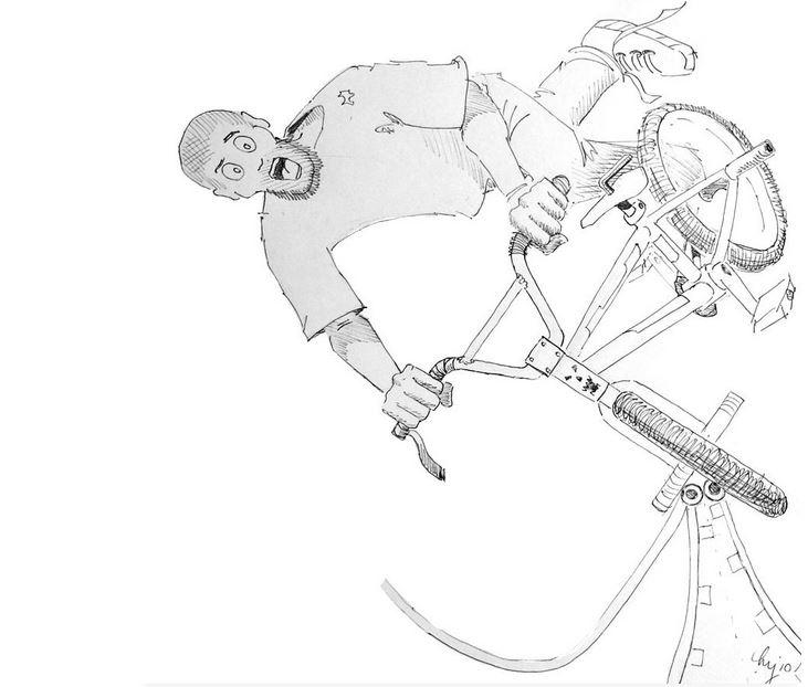 'Pivotal Moment' - BMX mini ram - artbymikejory | ello
