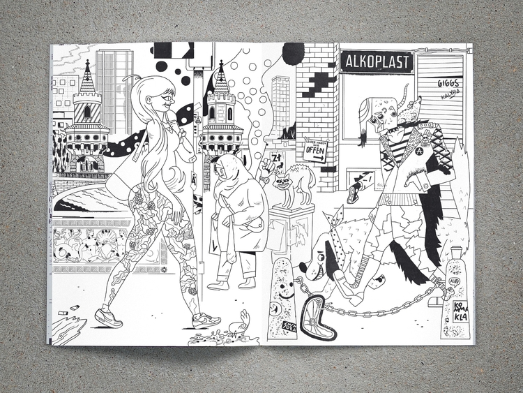 double-page Berlin themed color - jan_d_gillich | ello