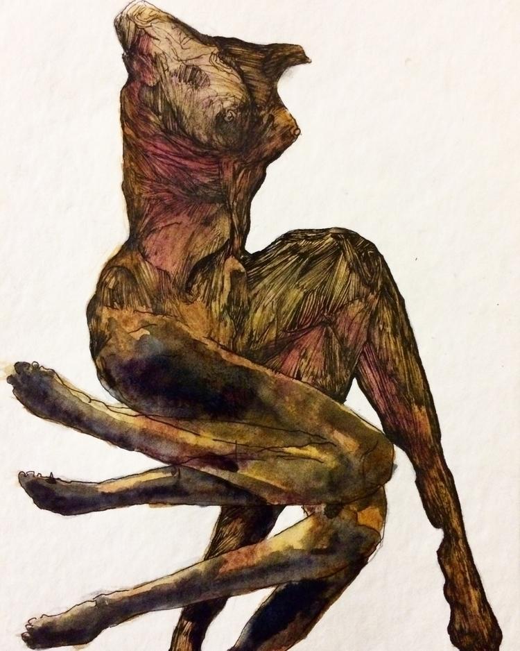 Title: variables - watercolor, pen - jacobbayneartist | ello