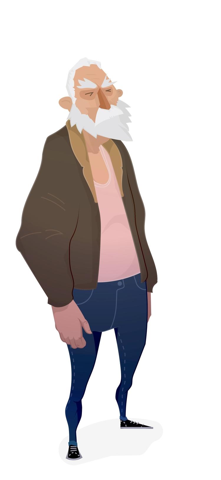 ENJOY - quick, character, sketch, - krankcrabs | ello