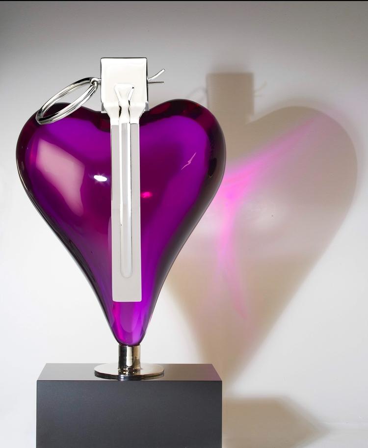 Purple Heart Mauro Perucchetti  - mauroperucchetti | ello