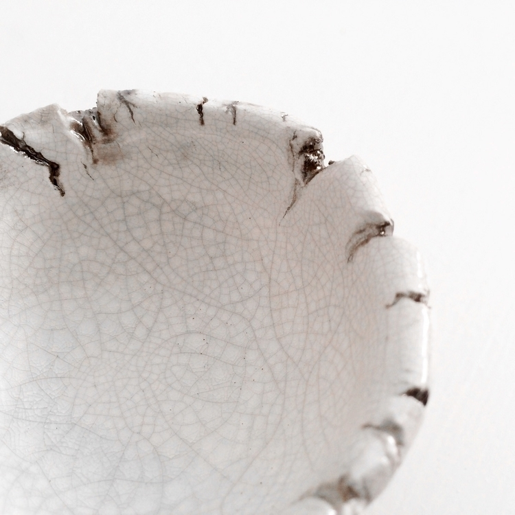 White Raku Bowl - raku, rakufired - highyieldstudio | ello