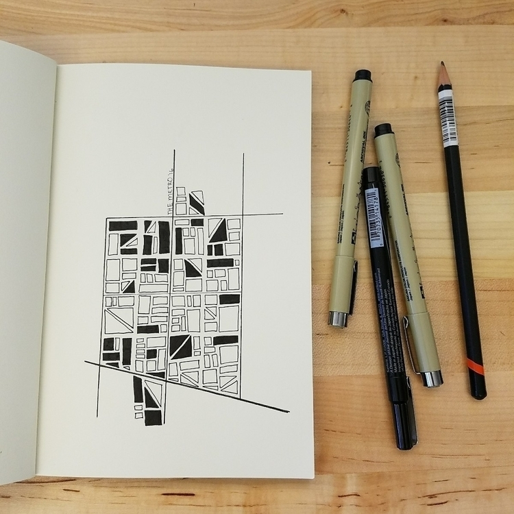 map, doodle, illustration, penandink - akimbrough | ello