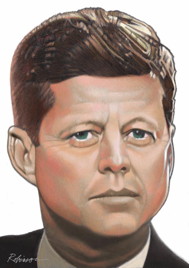 JFK Portrait - dwrobins2000   ello