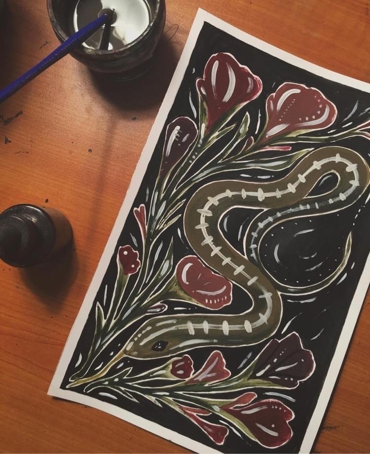 Slither - IG KLIGHTS - drawing, sketch - kaeg | ello