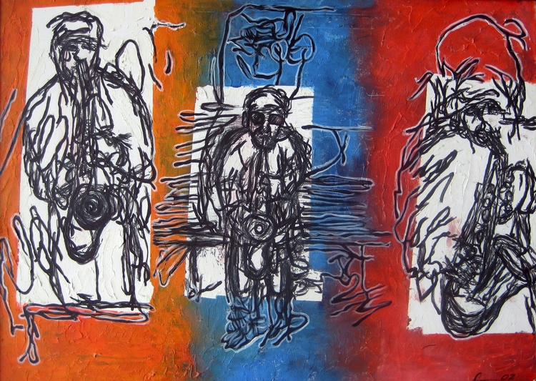 Title: Jazz Trio Medium: Acryli - damionismyname | ello