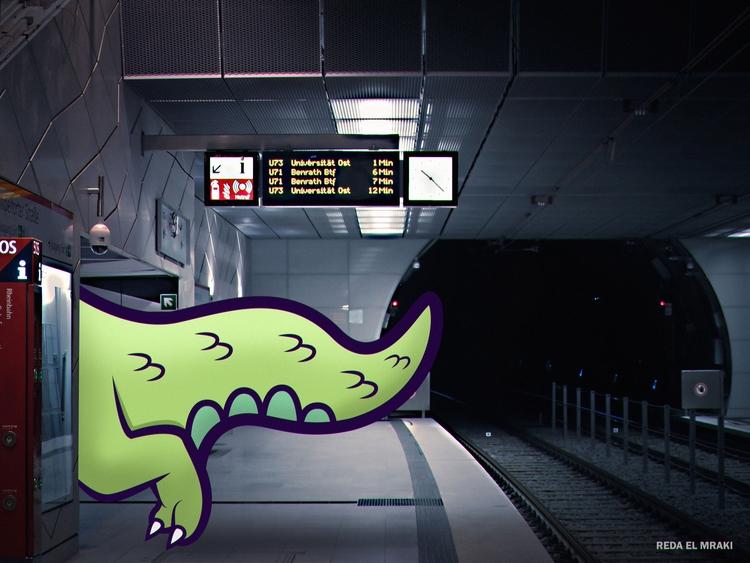 Dino missed train - gif, animation - redaelmraki | ello