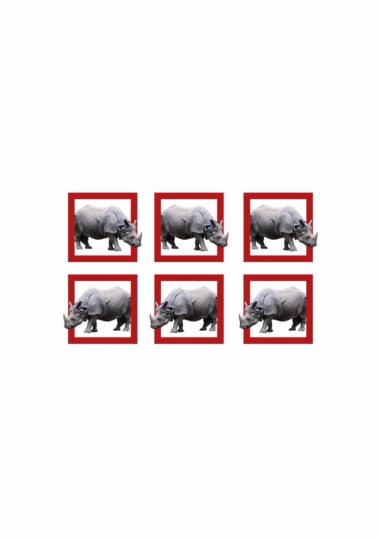 design, animal, rhino, square - valenvq | ello