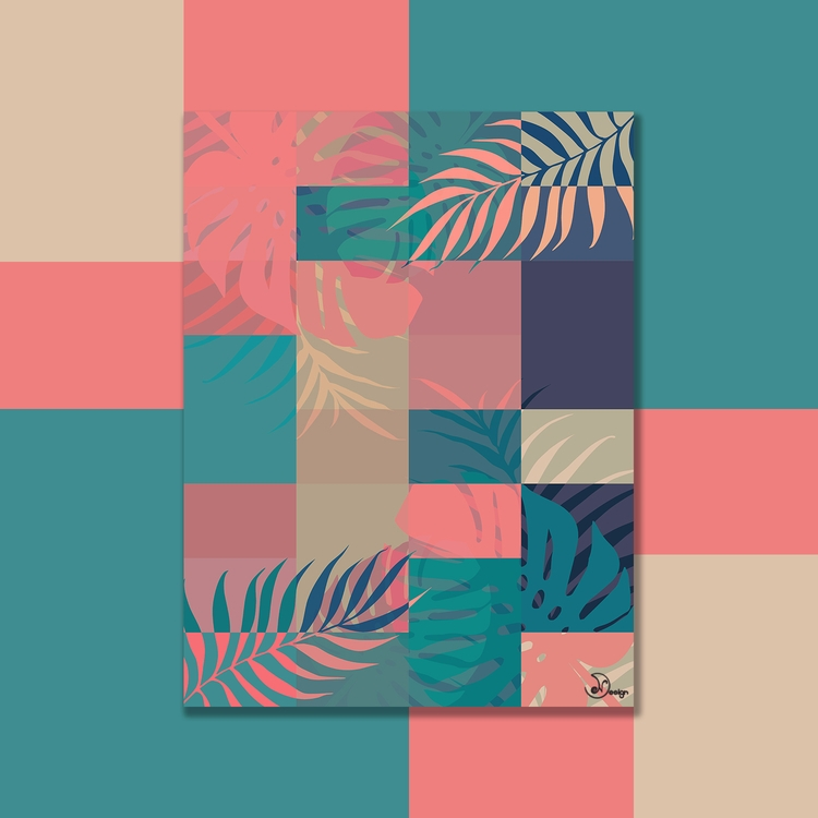 Tropical Mess Digital palms mon - designdn | ello