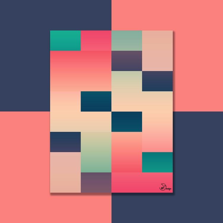 Abstract Summer colorful geomet - designdn | ello