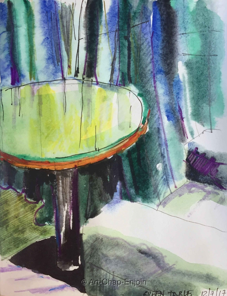 - Green table sketching hotel r - artchapenjoin | ello