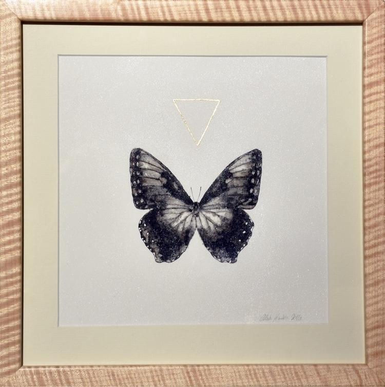 Morpho / ink painting metallic  - alexakarabin | ello