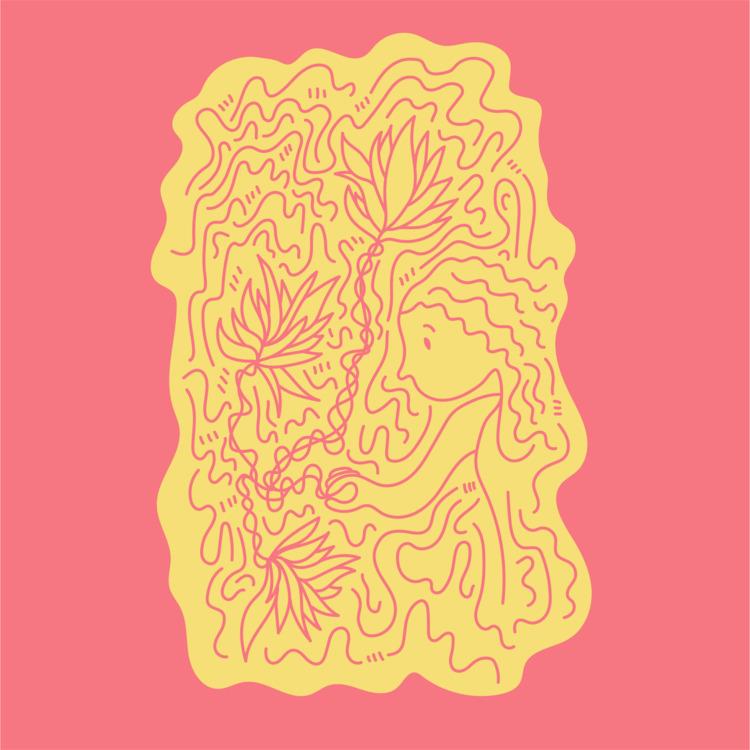 Flower girl - illustration, illustrator - heybop | ello