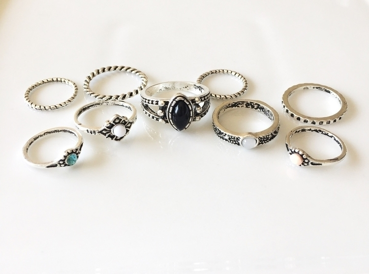 Ello boho style rings faux opal - stylebasix | ello