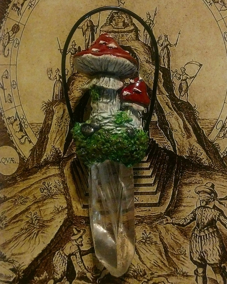 quartz mushroom Pendant 🖤 find  - shadowlighthaven | ello
